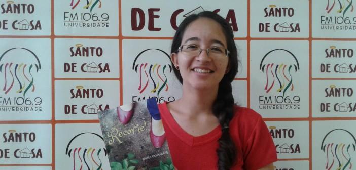 Thalita Guimarães fala sobre o projeto Literatura Mútua, no Santo de Casa