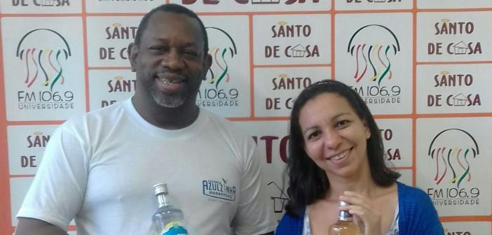Entrevista com o empresário José Campos e, a professora Ana Letícia, para falar sobre a contribuição da produção da cachaça para a cultura maranhense, no Santo de Casa
