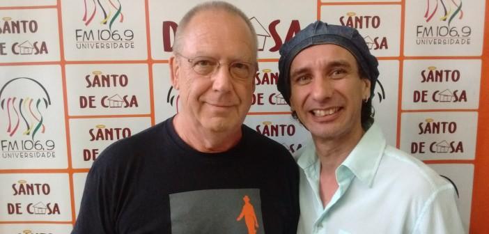 """Claus Alves e Carlos Berg falam sobre o show """"Pega na Mentira"""", no Santo de Casa"""