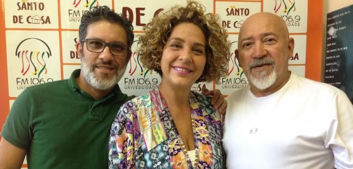 "Entrevista sobre o show ""Encontros e Despedidas"", no Santo de Casa"