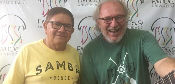 Gerude e Eloy Melonio falam sobre o ato público para celebrar o primeiro dia municipal da poesia